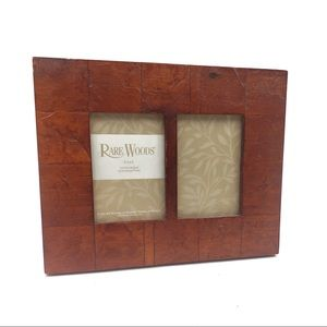 RARE WOODS double 3 1/2 x 5 picture frame